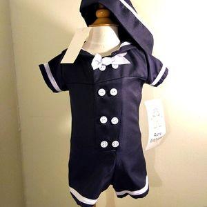 Navy boys sailor suit 6 m
